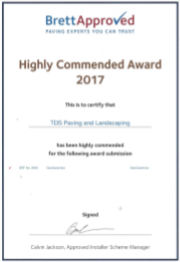 Brett Approved Paving & Landscaping Company 2017 Awards