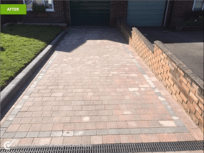 Replaced Path and Driveway. New Soakway in Ashtead